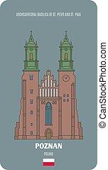 pietro, st., archcathedral, poznan, paul, polonia, basilica