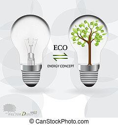 pill., illustration., luce, astratto, albero, vettore, bulbo, medico