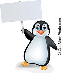 pinguino, segno, vuoto