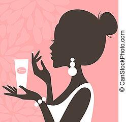 (pink, faccia, series), crema
