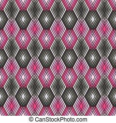 pink-grey, modello diamante, contorno