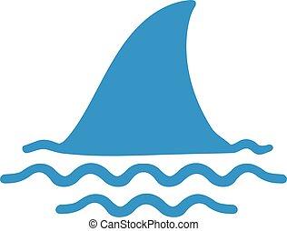 pinna, acqua, squalo