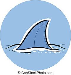 pinna squalo, dorsale