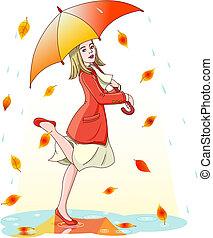 pioggia, ballo