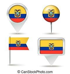 piolini, mappa, bandiera, ecuador