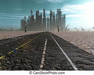 piombi, strada città, abbandonato, alterato