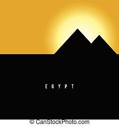 piramide, egitto, illustrazione, famoso, storia antica