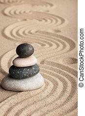 piramide, fatto, sabbia, pietre erette