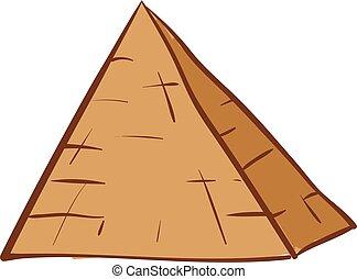 piramide, set, clipart, colorare, isolato, illustrazione, fronte, vettore, fondo, bianco, o, osservato