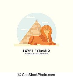 piramide, sfinge, egitto, destinazione corsa, -, giza, punto di riferimento, desert., turismo