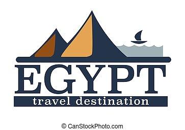 piramidi, paesaggio, viaggiare, africano, destinazione, paese, egitto