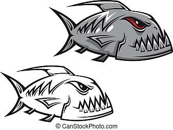 piranha, pericolo