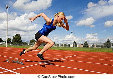 pista, atleta
