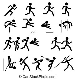 pista, sport campo, pictogram
