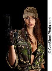 pistola, donna