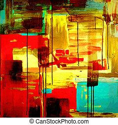 pittura, acrilico, composizione