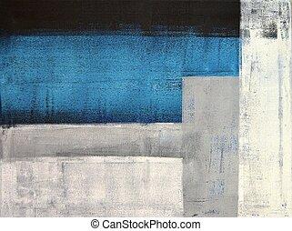 pittura, arte astratta, grigio, alzavola