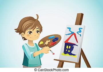 pittura, capretto