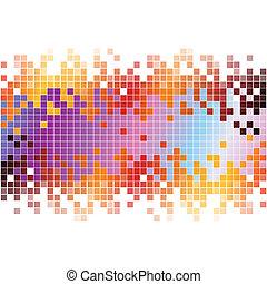 pixel, astratto, fondo, colorito, digitale