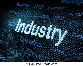 pixeled, industria, parola, schermo, digitale