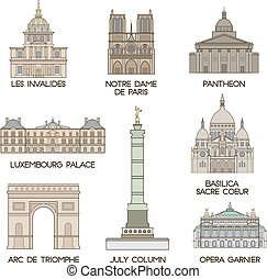 places., famoso, parigi