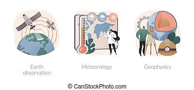planetario, vettore, scienza, concetto astratto, illustrations.