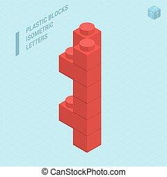plastica, lettera, blocs