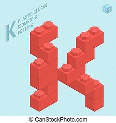 plastica, lettera, j, blocs