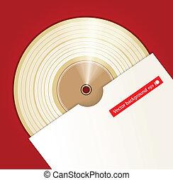 platino, coperchio, premio, cd