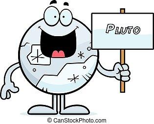 plutone, cartone animato, segno