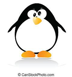 poco, illustrazione, pinguino