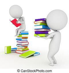 poco, lettura, libri, tipo