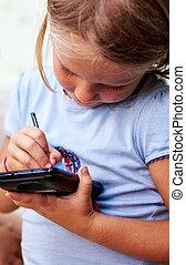 poco, smartphone, ragazza