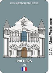poitier, notre-dame-la-grande, francia, chiesa