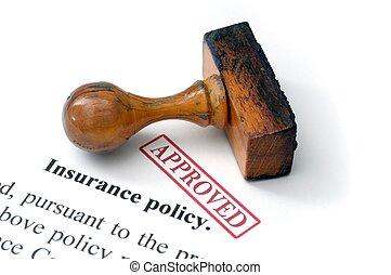 politica, -, assicurazione, approvato