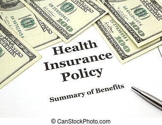 politica, assicurazione sanitaria, contanti