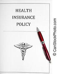 politica, penna, assicurazione sanitaria