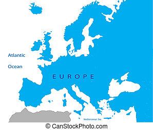 politico, europa, mappa