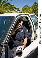 polizia, etichetta, -, chiamata
