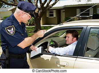 polizia, guidare bevuto, -