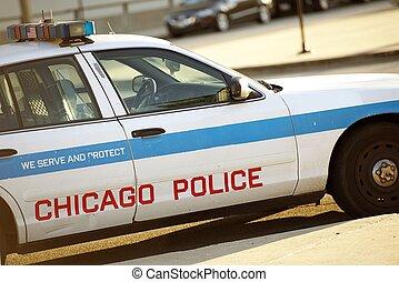 polizia, incrociatore, chicago