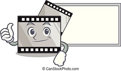 pollici, isolato, stirep, asse, film, mascotte