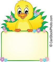 pollo, 2, tema, immagine