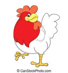 pollo, rosso