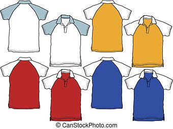 polo, ragazzo, sport, camicia, uniforme