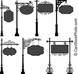 polo, strada, signage, cornice, segno
