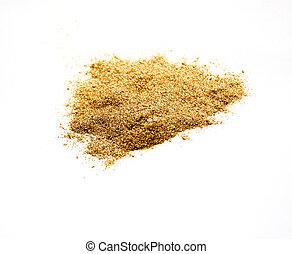 polvere, bianco, colorato, oro