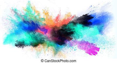 polvere, powder., colorato