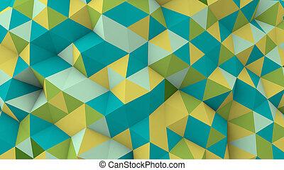 polygonal, multicolor, superficie, geometrico