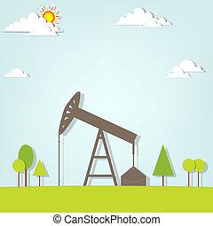pompa, olio, paesaggio
